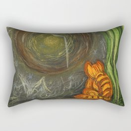Winter evening Or everywhere Space -the Space inside of me Rectangular Pillow