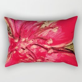 Red Hibiscus Detail Rectangular Pillow