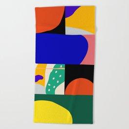 Geometric-Organic Beach Towel