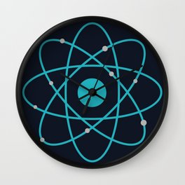 Atom, Molecules, DNA, Science decor, science class Wall Clock