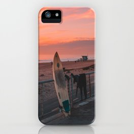 California Sunset Surf Day iPhone Case