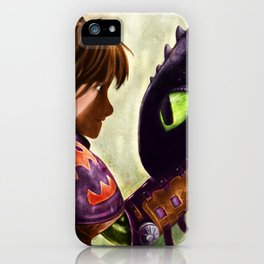 How to Train Your Dragon - Hiccup and Toothless iPhone Case