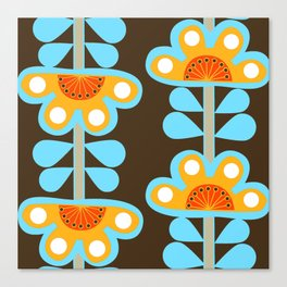 swedish flowers Canvas Print