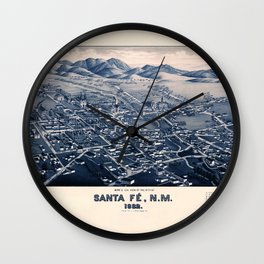 Map Of Santa Fe 1882 Wall Clock