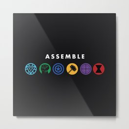 Assemble Metal Print