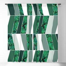 Green Herringbone #society6 #green #succulent Blackout Curtain