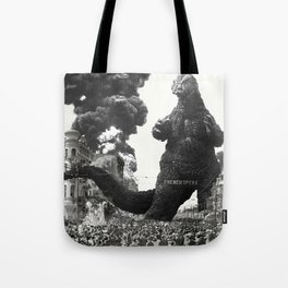 New Orleans Godzilla Attack 1908 Tote Bag