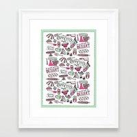 kitchen Framed Art Prints featuring Kitchen by Beatriz Sanches