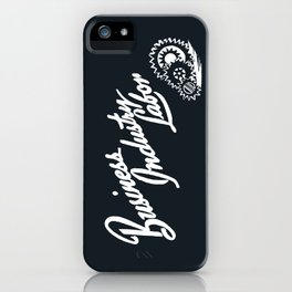 Business Industry Labor in White with Gears iPhone Case