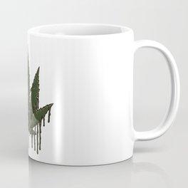 Melting Cannabis Leaf   Marijuana THC CBD Stoner Coffee Mug