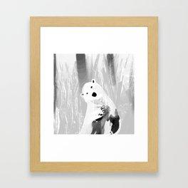 Unique Black and White Polar Bear Design Framed Art Print