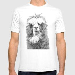 Black and White Alpaca T-shirt