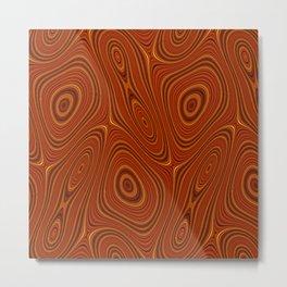 Amber Lava 15 Hi Res Metal Print
