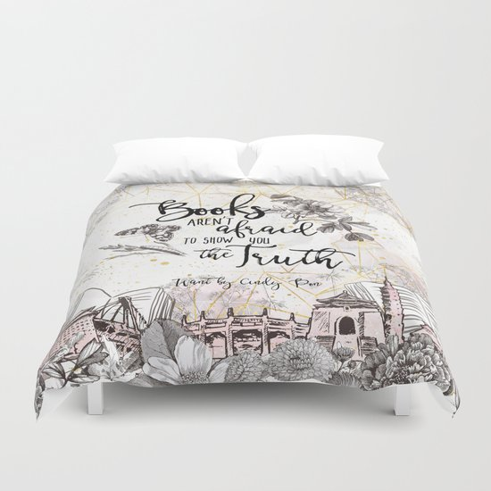 Want - Books Aren't Afraid Duvet Cover