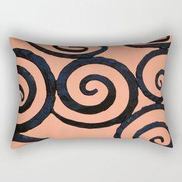 Iron Spirals in Pumpkin Rectangular Pillow