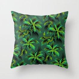 Snake Palms - Green Throw Pillow
