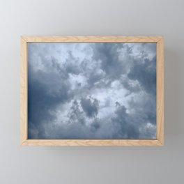 Fifty Shades of Grey Clouds   Nature Photography Framed Mini Art Print