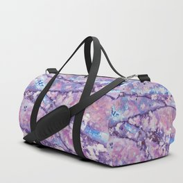Violet and pink marble texture Duffle Bag