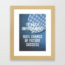 Motivational - 100% Chance of Success Framed Art Print
