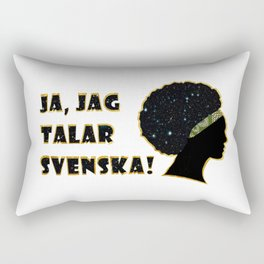 Ja jag talar svenska! Rectangular Pillow