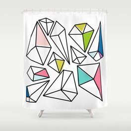 Shine Bright | Colorful Geo Gems Shower Curtain