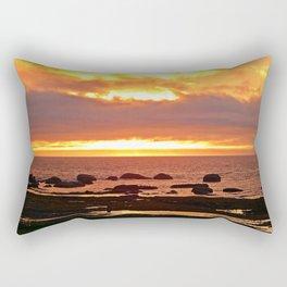 Stunning Orange Sunset Rectangular Pillow