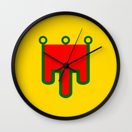 Auvergne flag france country region Wall Clock