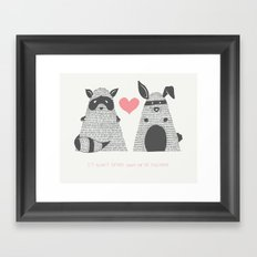 Partner in Crime Framed Art Print