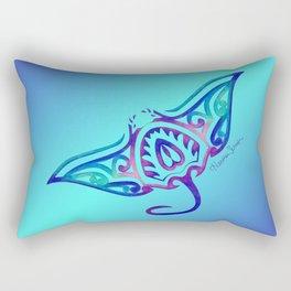 Tribal Manta Ray Rectangular Pillow