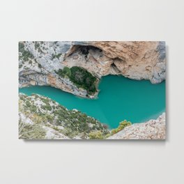 Blue river between the cliffs Metal Print