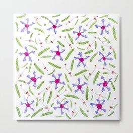 Leaves and flowers pattern (25) Metal Print