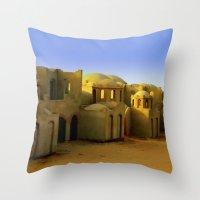 neverland Throw Pillows featuring neverland by Giorgia Giorgi