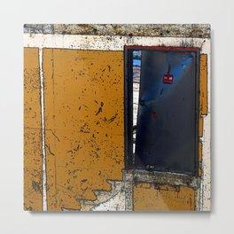 Abandoned Theatre - Black Door Metal Print