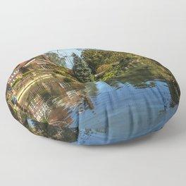 Backwater Goring on Thames Floor Pillow