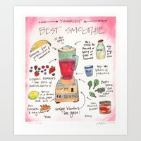 Best Smoothie Recipe Art Print