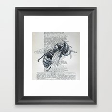 Honey, My Honeybee Framed Art Print