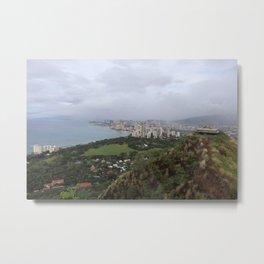 View from Diamondhead mtn in Hawaii Metal Print