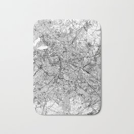 Berlin White Map Bath Mat