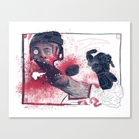hockey Canvas Prints featuring Hockey! by Dushan Milic