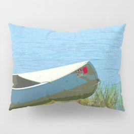 The Boat is Here Painting Pillow Sham
