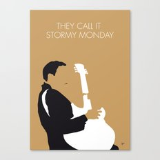 No070 MY TBone Walker Minimal Music poster Canvas Print