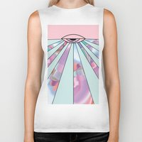 holographic Biker Tanks featuring Trans Colour Eye by Belinda O'Connell