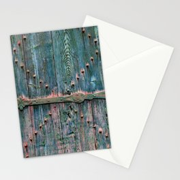 Decorative wooden gate Stationery Cards