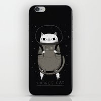 tote iPhone & iPod Skins featuring space cat by Louis Roskosch