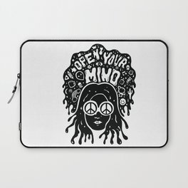 Open Your Mind in black Laptop Sleeve