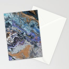 Molten Time (flow art on canvas) Stationery Cards