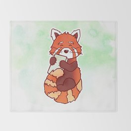 RED PANDA READS Throw Blanket