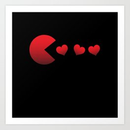 Pac Man Love Art Print