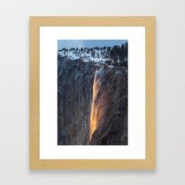 "37°43'39.2""N 119°36'31.4""W Framed Art Print"