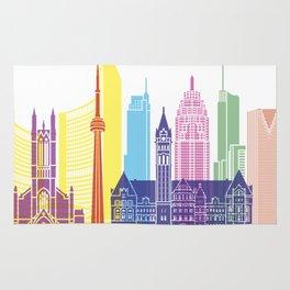 Toronto V2 skyline pop Rug